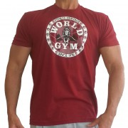 W155 World Gym Bodybuilding Shirt cirkel logo