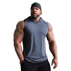 C195 Crazee Wear Muscle Sleeveless Hoodie