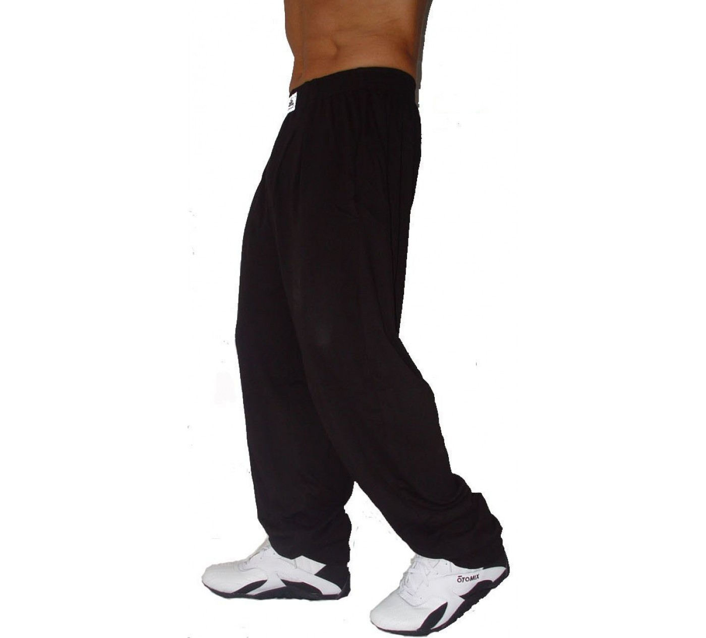 C500 Workout Pants by Crazy Wear - Solid Black