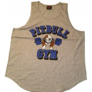 CLOSEOUT- P-02 Pitbull Gym Clothes Mens Tank Top Barbell icon
