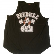 CLOSEOUT- P-08 Pitbull Gym Clothes Mens Tank Top Barbell icon- NO REFUNDS