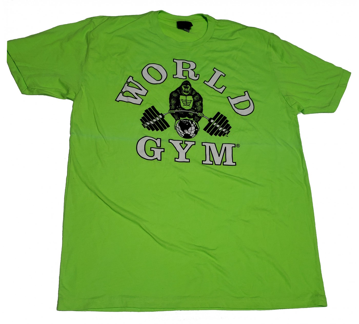 CLOSEOUT -W-015 World Gym shirt (slight sun damage)