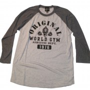 World Gym Muscle Shirt Long Sleeve Sports Athletic Dept.