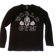 CLOSEOUT- W-022 World Gym Muscle Shirt Long Sleeve Thermal- NO REFUNDS