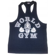 W-010 World Gym Workout Tank Top Black/Silver