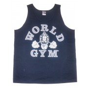 W-011 World Gym Workout Tank Top Black/Silver