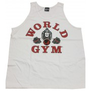 W-011 World Gym Workout Tank Top White