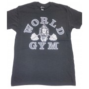 CLOSEOUT- W-013 World Gym T-shirt Black/Silver Gorilla- NO REFUNDS