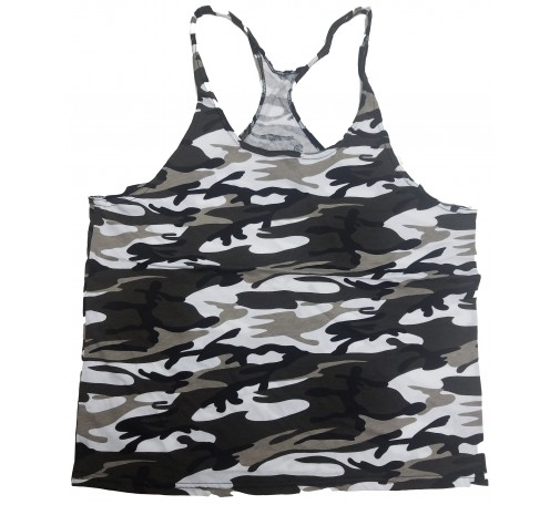 F300  Blank Camo Tank Top Mens Y-back
