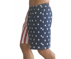 F600 Flag Shorts in American Flag Short