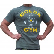 G100 Golds Gym Bodybuilding T Shirt gamle joe ikon