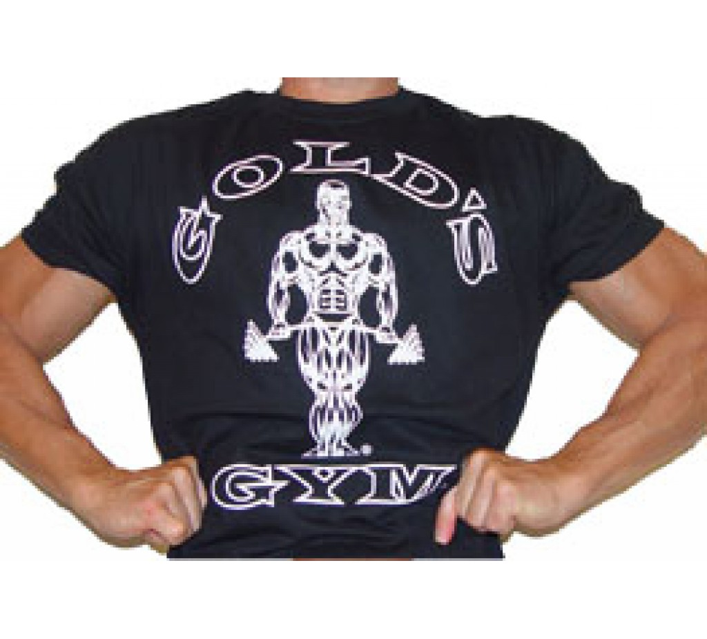 G101S Golds Gym Bodybuilding Shirt TO logo jumbo