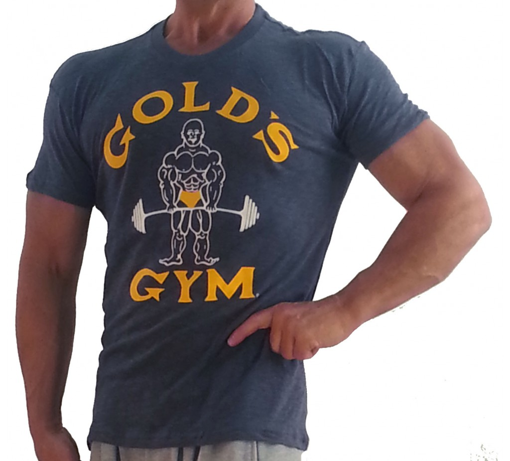 G110 Golds Gym Muscle skjorte Burnout Tee joe logo
