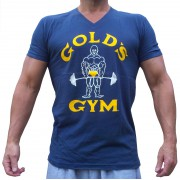 G150 Golds Gym Bodybuilder camisa de gola V velho joe