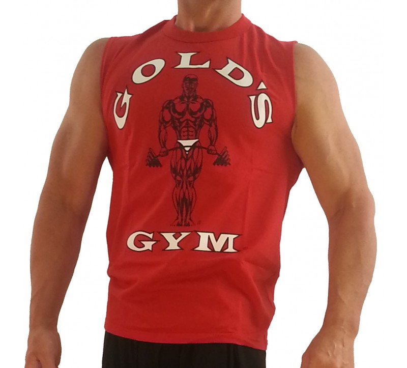 Muscle shirt g191 golds gym sleeveless muscle shirt to for Gym shirt t shirt