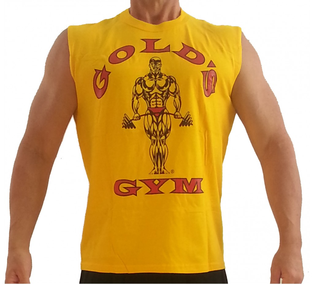 Koszula mi ni g191 golds gym r kaw w koszuli logo mi ni for Best fitness t shirts