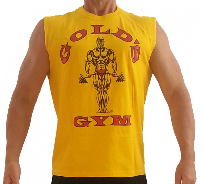Muscle shirt g191 golds gym sleeveless muscle shirt to for Best fitness t shirts