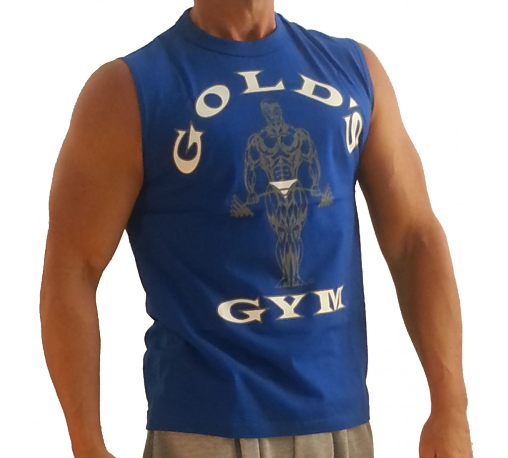 Muscle shirt g191 golds gym ruk v muscle shirt k logu for Best fitness t shirts