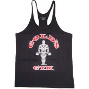 G301 Golds Gym String Tank Top Mens Y-Back To Logo