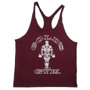 G301 Golds Gym String Tank Top Herre Y-Back To Logo
