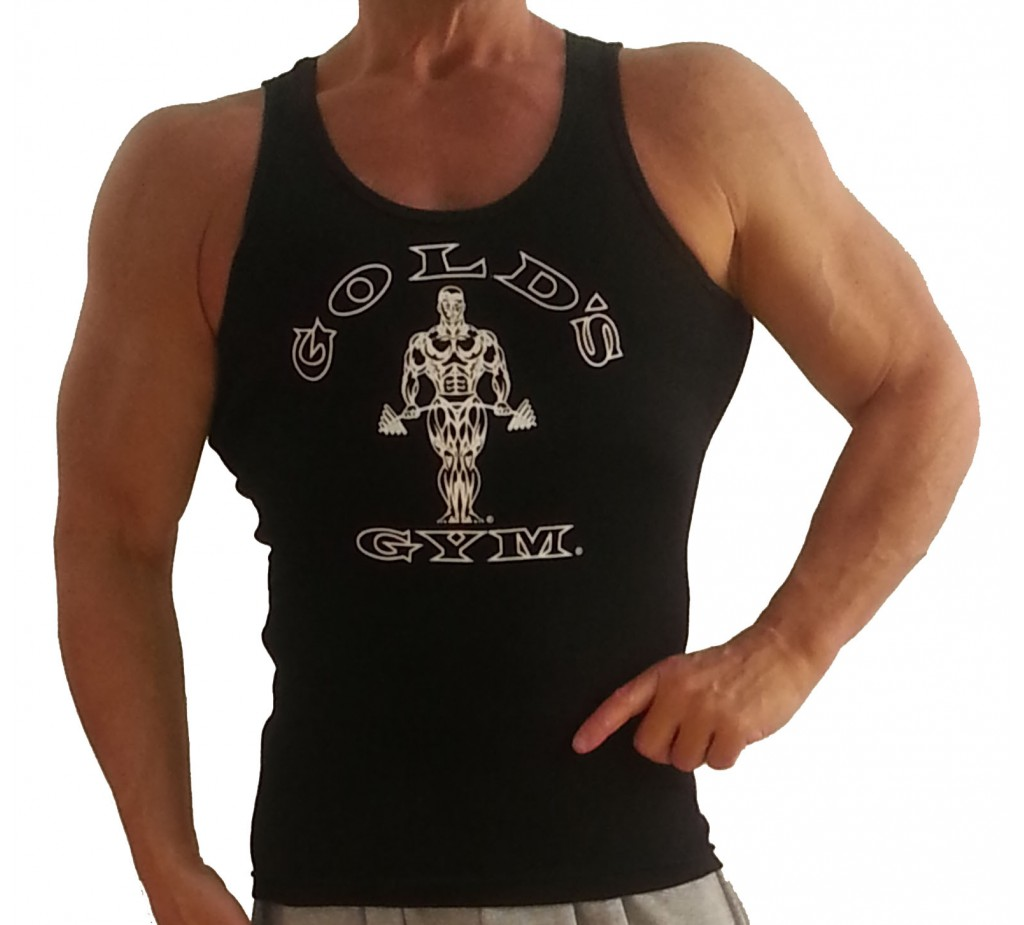Stretch Tank Top For Men G391 Golds Gym Muscle Tank Top