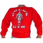 G801 Golds Gym Bodybuilder Sweatshirt TIL logo