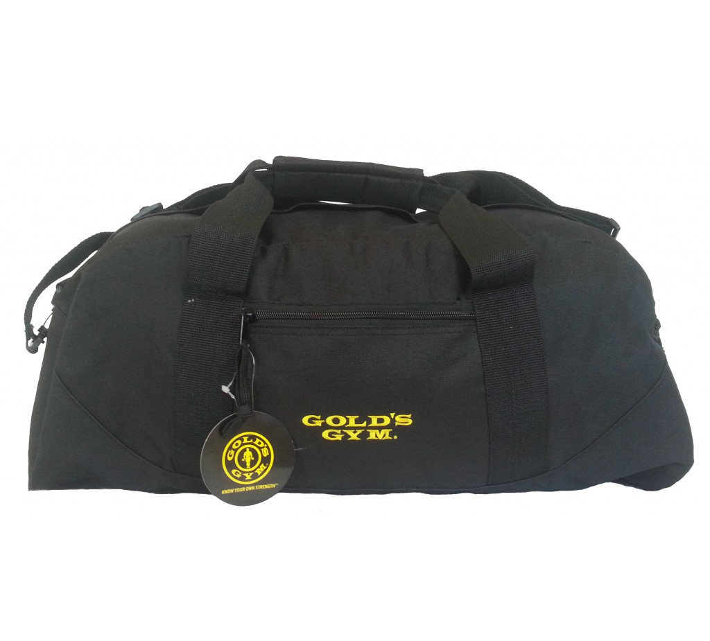 G964 Golds Gym Duffel Bag With Embroidered Text Name