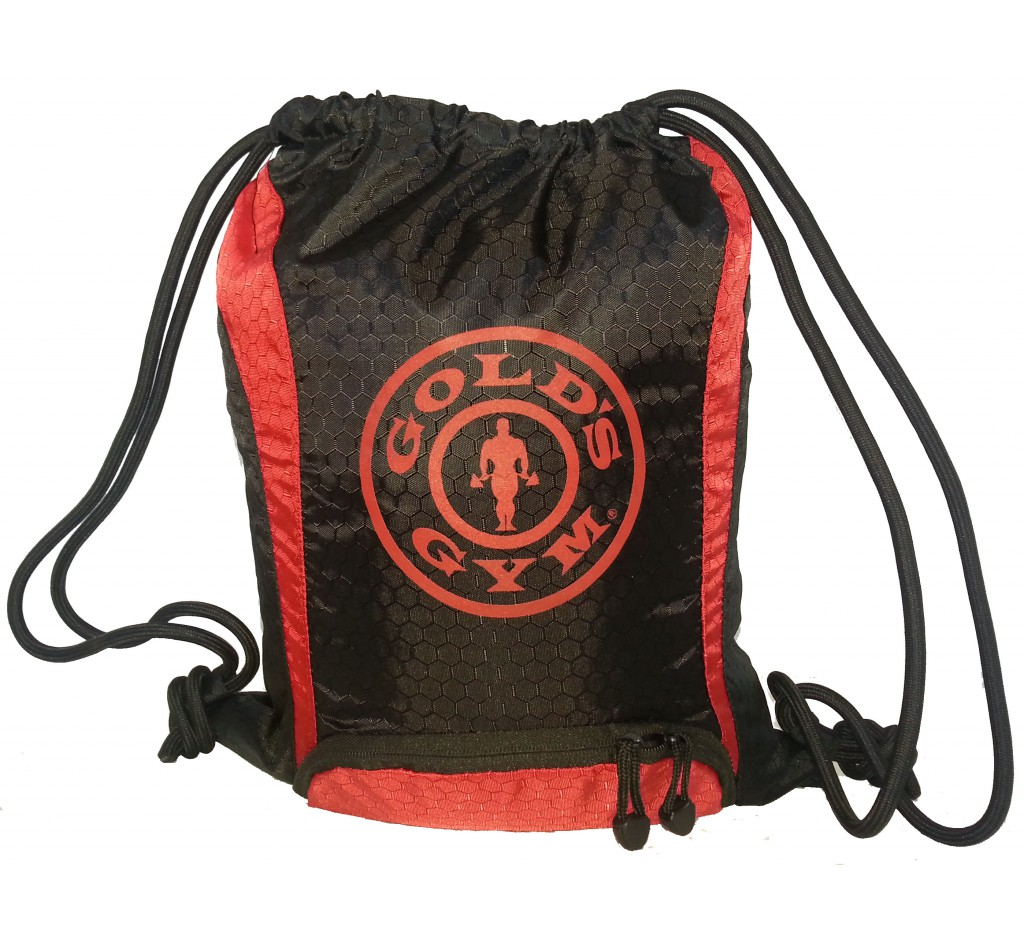 G968 Drawstring Gym Bag with Golds Gym icon