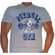 P101 Pitbull shirt do logotipo Barbell