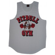 P321 Pitbull Gym Tøj Mens Tank Top Barbell ikon