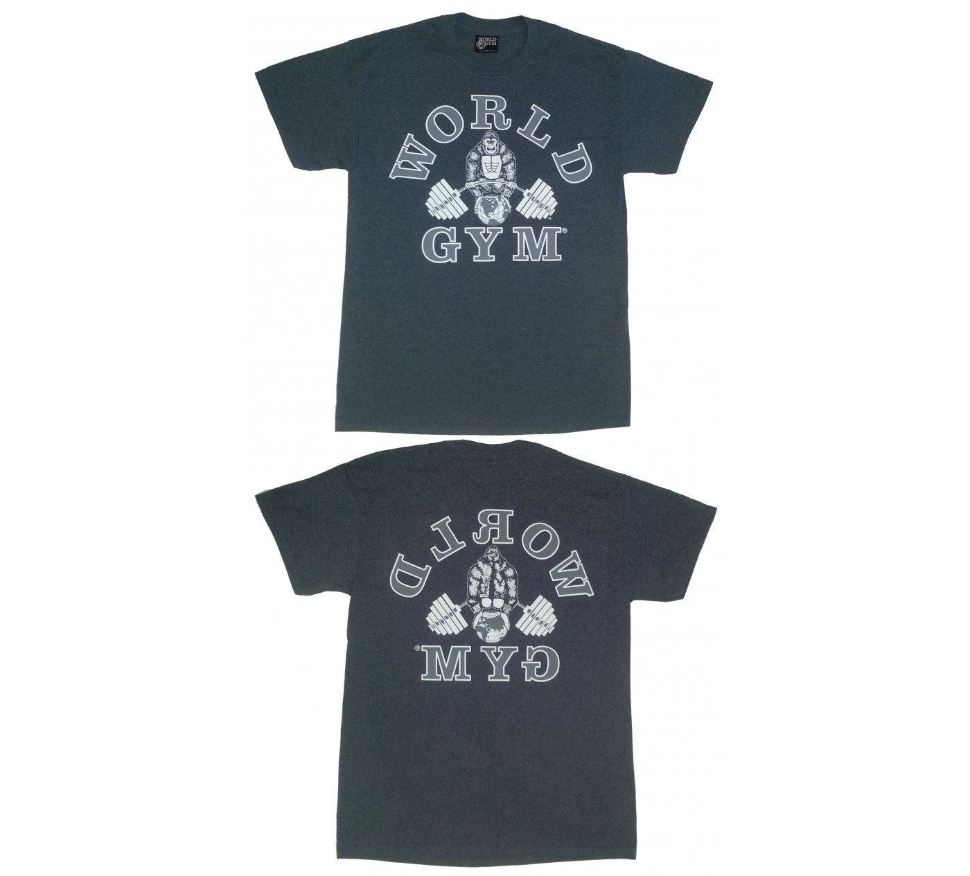 W100 World Gym shirt retrò Gorilla logo
