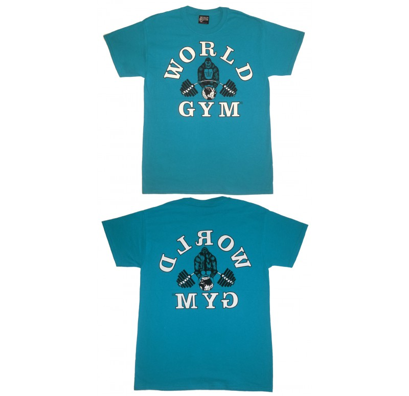 World Gym Shirt Retro Gorilla logo