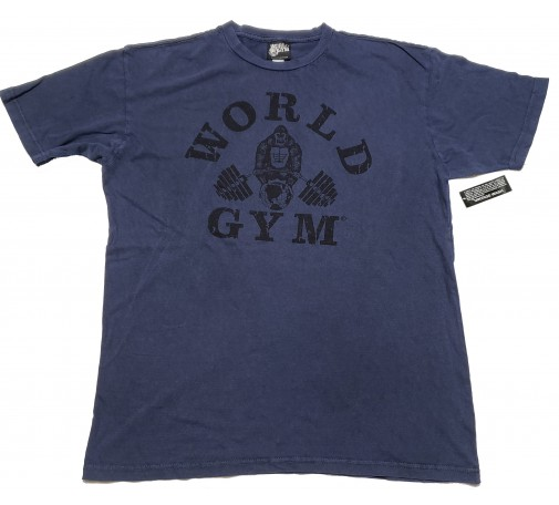 World Gym Pigment Dye Mineral Wash Vintage Gorilla Logo Shirt