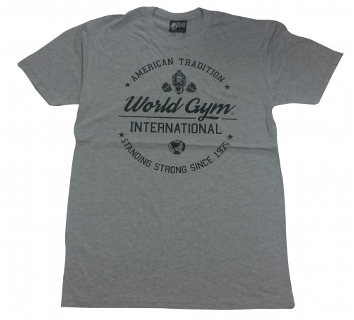 W110 World Gym Muscle Shirt Burnout Tee