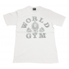 World Gym Shirt Faded Gorilla logo White