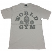 World Gym Shirt Gorilla logo White