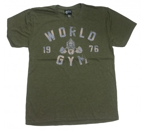 World Gym workout shirt Faded World gym 1976