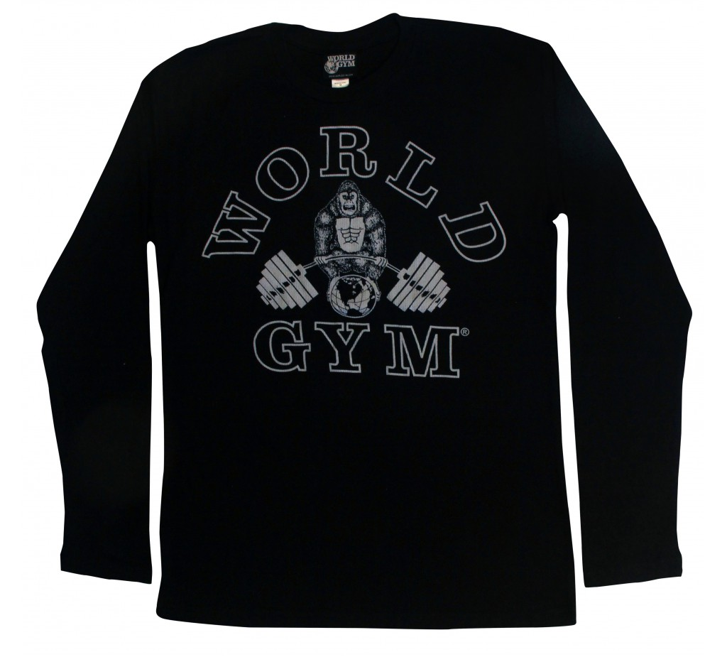 W171 World Gym músculo camisa de manga larga térmica