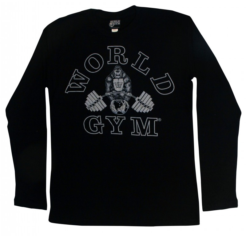 World Gym Muscle Shirt Long Sleeve Thermal