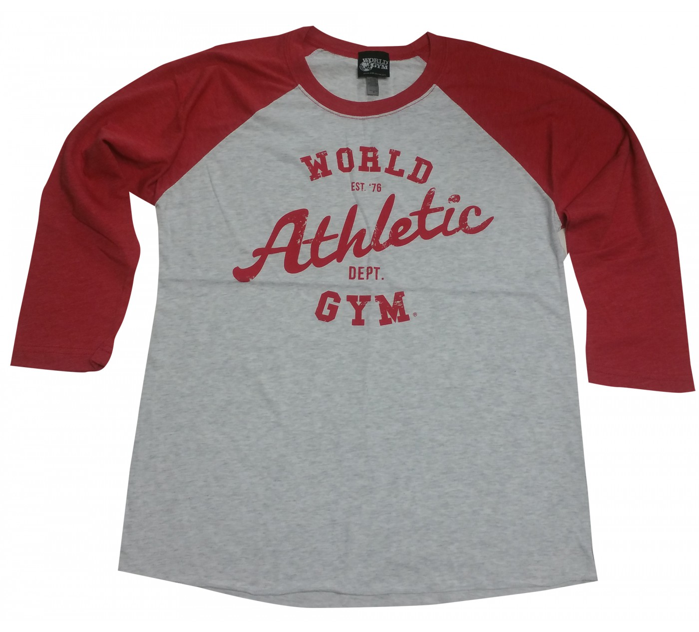 World Gym Muscle Shirt Langarm-Baseball World Athletic Dept