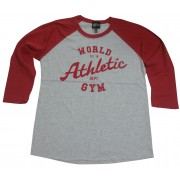 World Gym Muscle Shirt Langermet Baseball World Athletic Dept