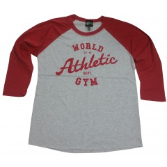 Maillot de corps musculation World Gym à manches longues Baseball