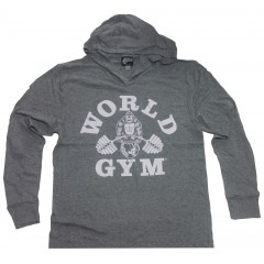 World gym Tri Blend Long Hoodie shirt