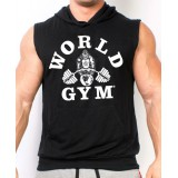 World Gym Sleeveless Hoodie Muscle Shirt