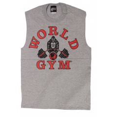 W190 World Gym ærmeløs muskel shirt