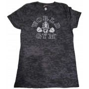World Gym Womens Burnout Tee