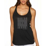 World Gym Womens Time to Train Tri-Blend Racerback Tank Top