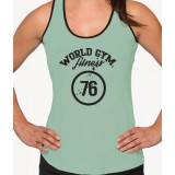 World Gym Womens Fitness 76 Ringer Tank Top