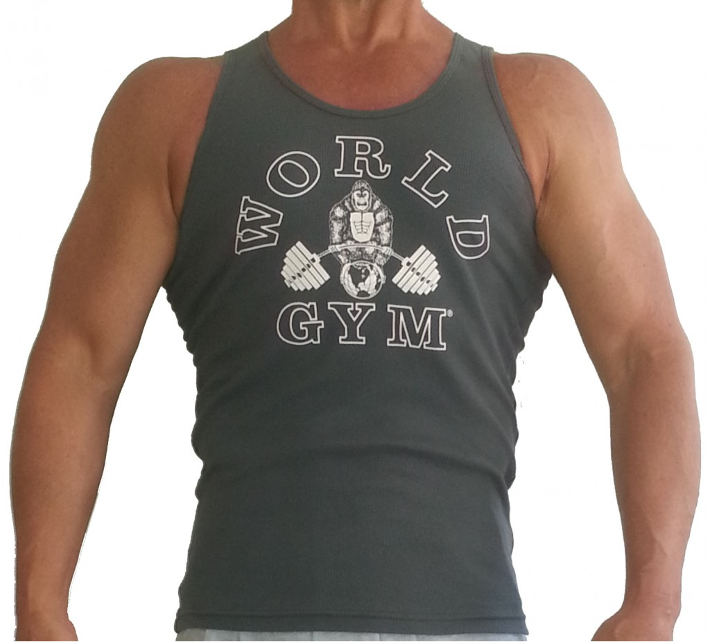 0a5eaa8468201 Stretch Tank Top for Men  World Gym Muscle Tank - Tank Top