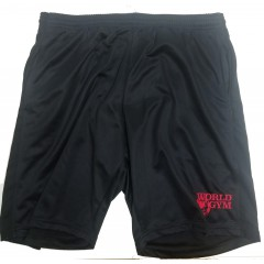 BLOWOUT- World Gym Poly long shorts Made in the USA